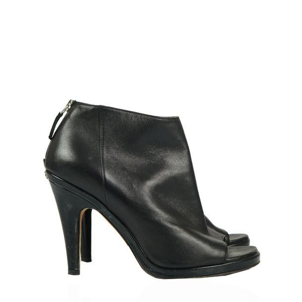 Ankle-Boot-Chanel-Couro-e-Verniz-Preta