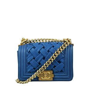 Bolsa-Chanel-Mini-Bow-Couro-Azul