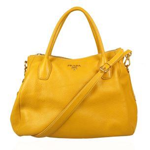 Bolsa-Prada-Couro-Amarela