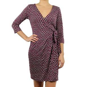 Vestido-Diane-Von-Furstenberg-Wrap-Dress-Estampado-Roxo-e-Preto