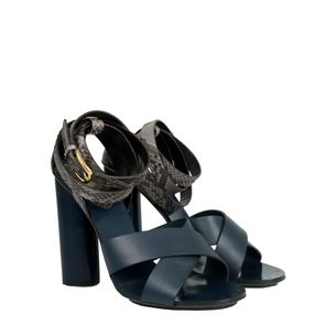 Sandalia-Gucci-Couro-Azul-e-Python