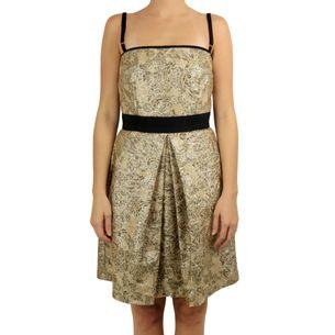 Vestido-Dolce---Gabbana-Brocado-Dourado