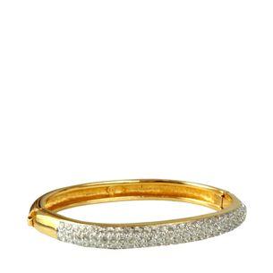 Bracelete-Swarovski-Dourado