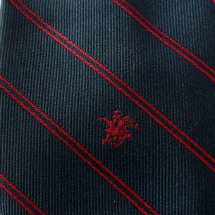 Gravata-Christian-Dior-Listras-Azul-e-Vermelho-Vintage