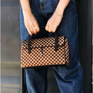 Bolsa-Louis-Vuitton-Xadrez-Pelo