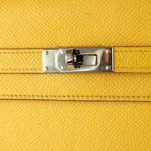 Carteira-Hermes-Kelly-Couro-Amarelo
