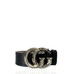 Cinto-Gucci-Marmont-Couro-Preto