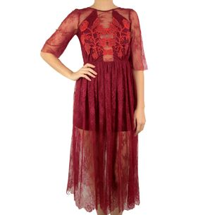 Vestido-Sandro-Renda-Vermelha