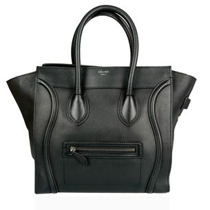 Bolsa-Celine-Luggage-Preta-Pequena