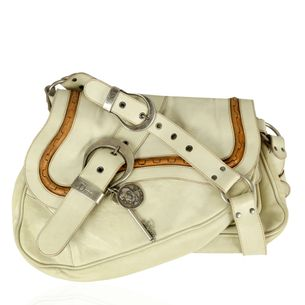 Bolsa-Christian-Dior-Saddle-Gaucho-Branca