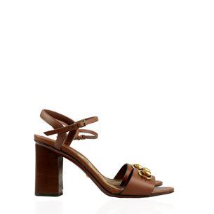 Sandalia-Gucci-Horsebit-Couro-Marrom