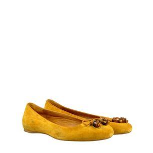 Sapatilha-Gucci-Camurca-Amarela
