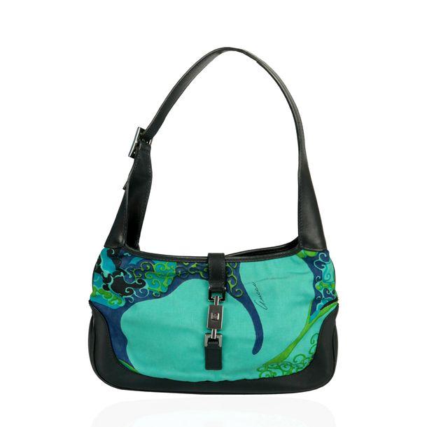 Bolsa-Gucci-Jackie-Azul-Estampada