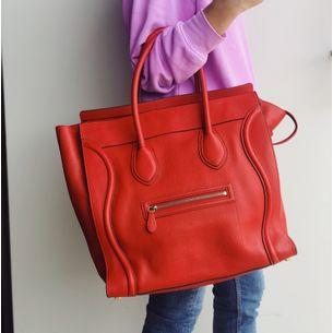 Bolsa-Celine-Luggage-Extra-Large-Vermelha