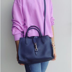 Bolsa-Gucci-Jackie-Tote-Azul-Pequena