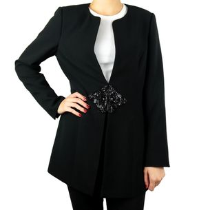 Blazer-Badgley-Mischka-Bordado-Preto