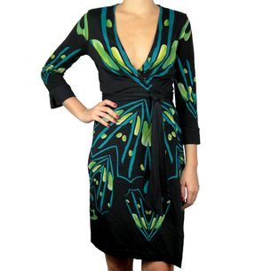 Vestido-Diane-Von-Furstenberg-Preto-e-Verde
