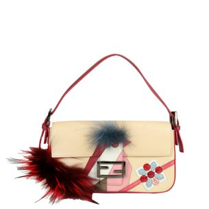 Bolsa-Fendi-Baguette-Monster-Rosa