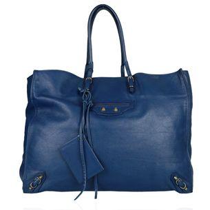 Bolsa-Balenciaga-Papier-Couro-Azul