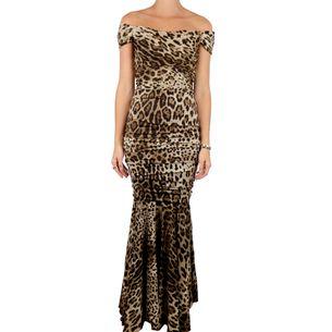 Vestido-Dolce---Gabbana-Onca-Drapeado-Longo