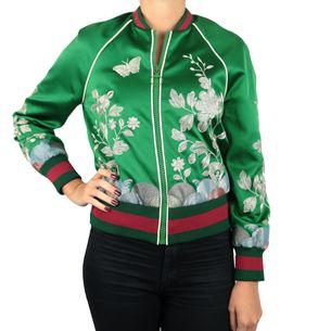 Jaqueta-Bomber-Gucci-Seda-Verde