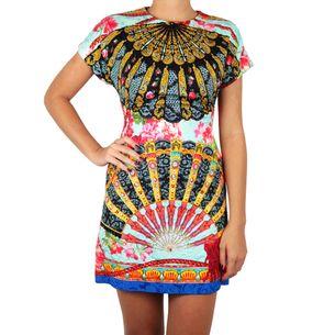 Vestido-Dolce---Gabbana-Estampa-Leque-Azul-e-Preto
