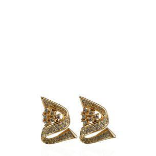 Brinco-de-Pressao-Christian-Dior-Cristais-Dourado-Vintage