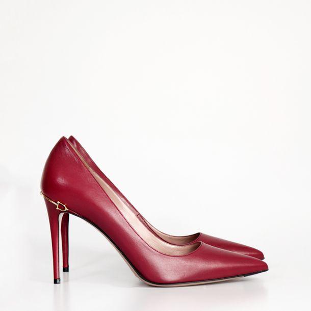 Scarpin-Gucci-Horsebit-Couro-Vinho