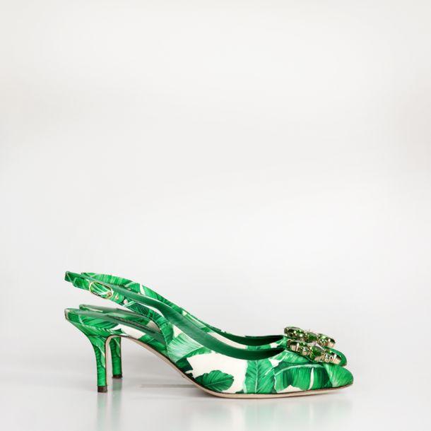 Pump-Slingback-Dolce---Gabbana-Banana-Leaf
