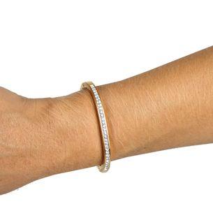 Bracelete-Swarovski-Dourado-e-Cristais