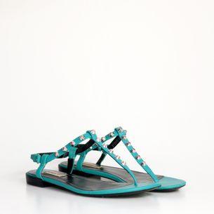 Sandalia-Rasteira-Balenciaga-Couro-Azul