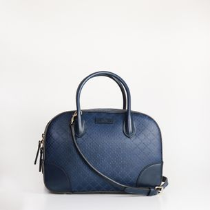 Bolsa-Gucci-Diamante-Top-Satchel-Azul