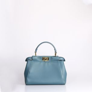 Bolsa-Fendi-Peekaboo-Azul-Mini