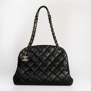 Bolsa-Chanel-Matelasse-Couro-Preto