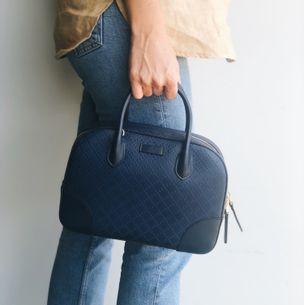 Bolsa-Gucci-Diamante-Top-Satchel-Azul