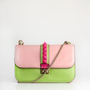 Bolsa-Valentino-Glam-Lock-Bicolor-Verde-e-Rosa