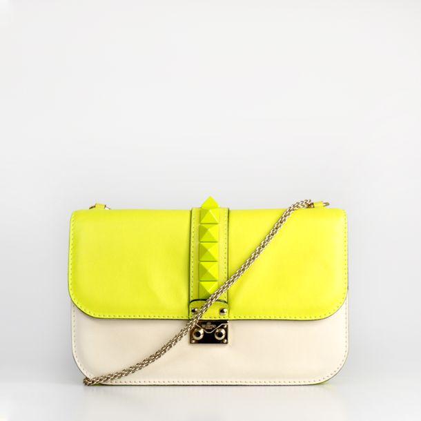 Bolsa-Valentino-Glam-Lock-Bicolor-Neon-e-Creme