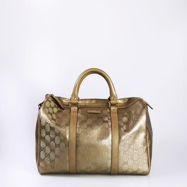 Bolsa-Gucci-Supreme-Joy-Boston-Dourada