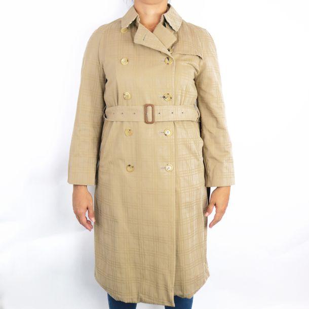 Trench-Coat-Burberry-Xadrez-Bege