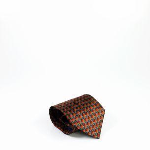 Gravata-Oscar-de-la-Renta-Quadrados-Marrom