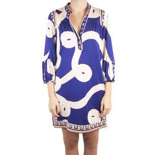 Vestido-Diane-Von-Furstenberg-Tunica-Estampado-Azul