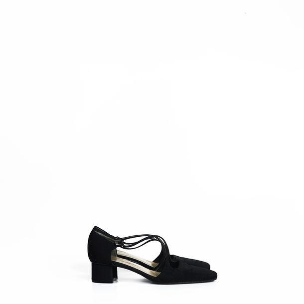 Sapato-Yves-Saint-Laurent-Preto-Vintage