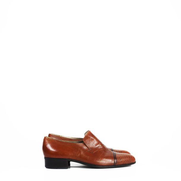 Sapato-Social-Christian-Dior-Couro-Caramelo-Vintage