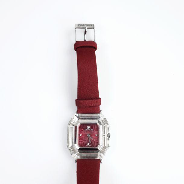 Relogio-Swarovski-Hexagonal-Vermelho