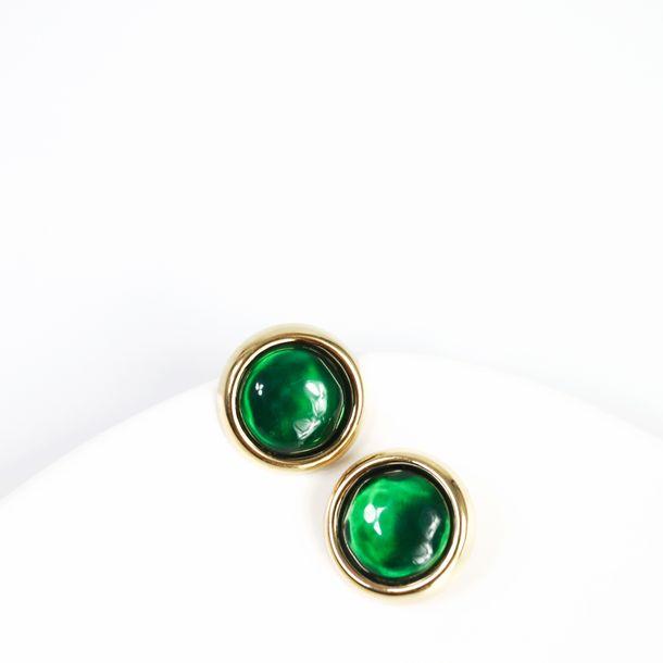 Brinco-de-Pressao-Oscar-de-la-Renta-Redondo-Verde