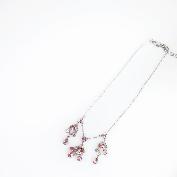 Colar-Givenchy-Prateado-Pedras-Rosa