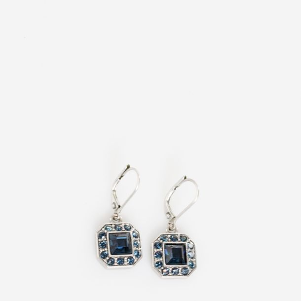Brincos-Givenchy-Metal-Envelhecido-Pedras-Azuis