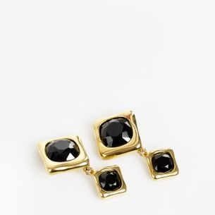 Brinco-de-Pressao-Givenchy-Quadrado-Dourado-e-Preto