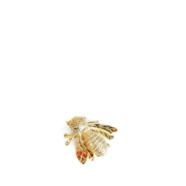 Broche-Givenchy-Abelha-Dourado