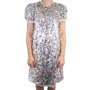 Vestido-Dolce---Gabbana-Paete-Prateado